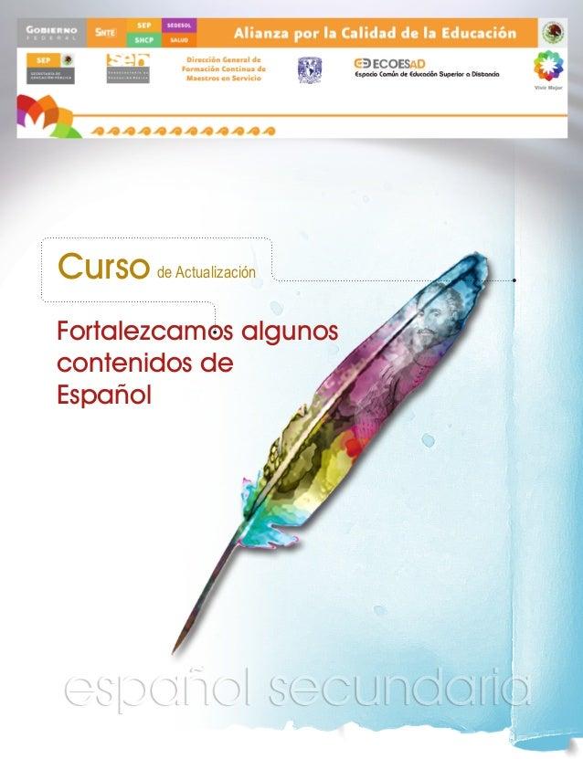 Curso de Actualización Fortalezcamos algunos contenidos de Español