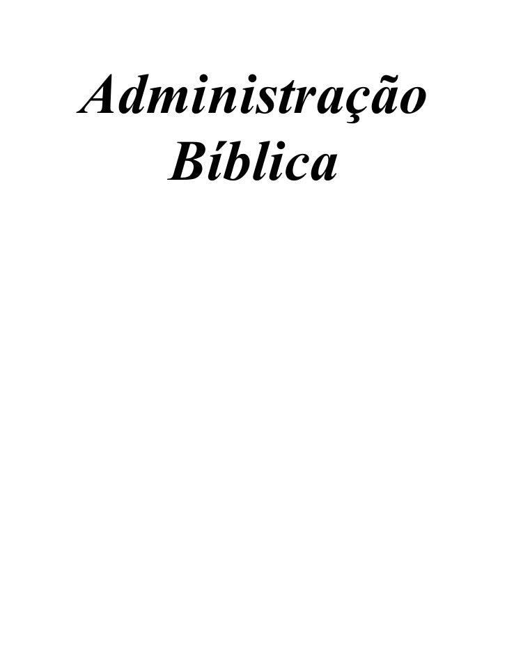 Administração   Bíblica