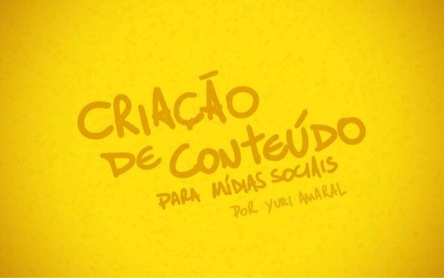 Criação de Conteúdo para Mídias Sociais