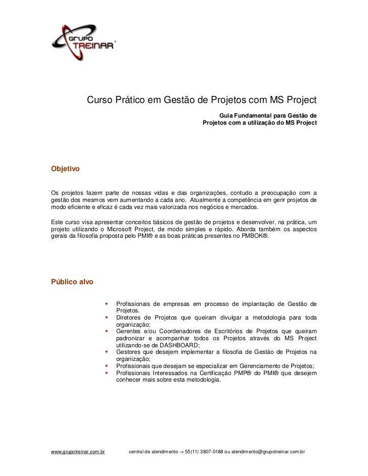 Curso Prático em Gestão de Projetos com MS Project                                                                        ...