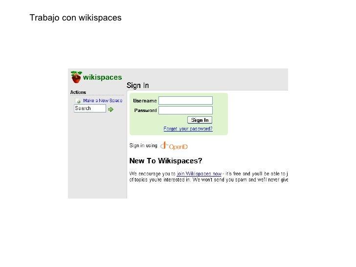 Trabajo con wikispaces