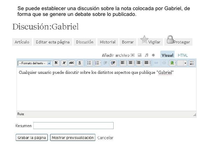 Se puede establecer una discusión sobre la nota colocada por Gabriel, de forma que se genere un debate sobre lo publicado.