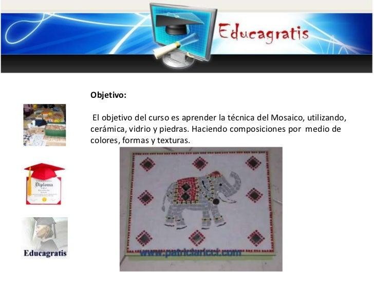 Cursos Gratis De Mosaico En Ceramica