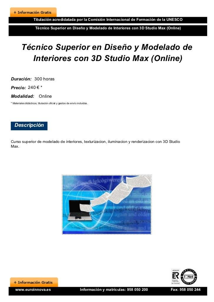 Curso dise o interiores 3d online for Curso de diseno de interiores online