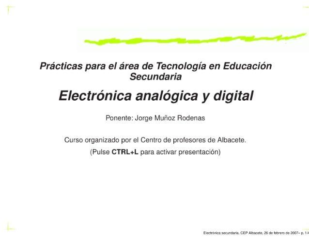 curso electrónica Tecnología Secundaria