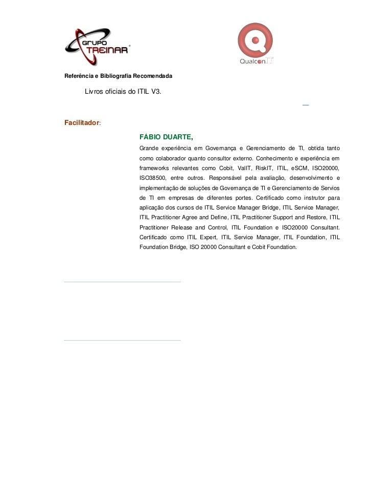 Itil Restore Service : Curso fundamentos de gerenciamento servicos ti