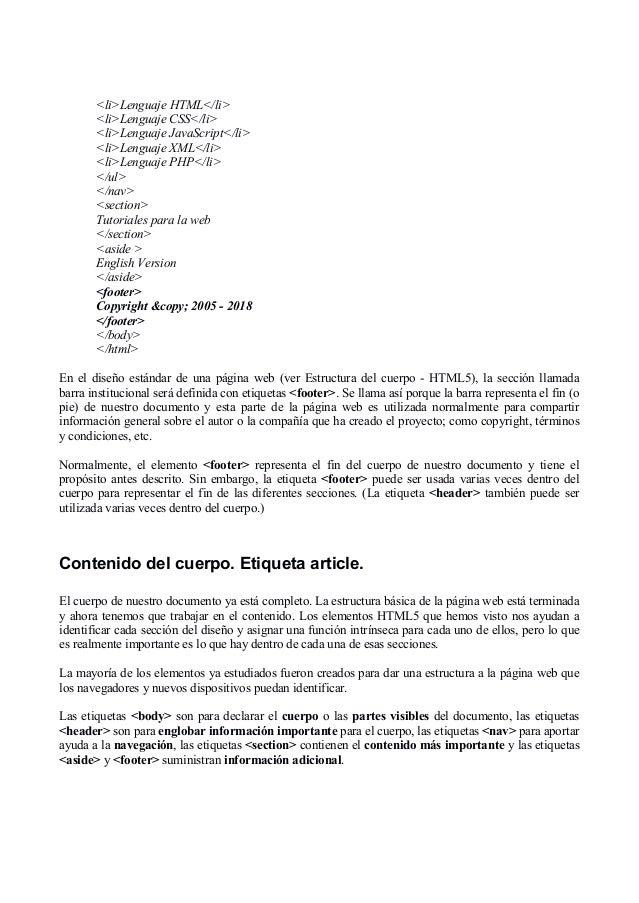 Curso Html 5 En Español