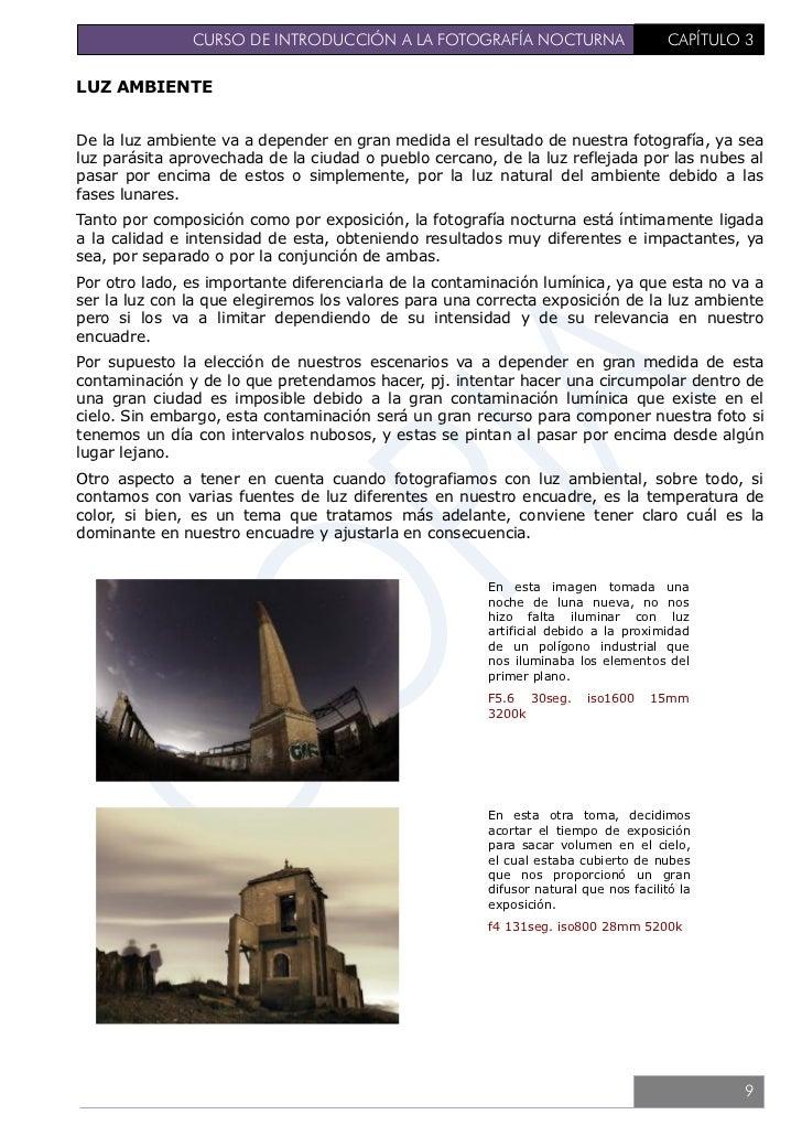 CURSO DE INTRODUCCIÓN A LA FOTOGRAFÍA NOCTURNA             CAPÍTULO 3                               En una noche de luna l...