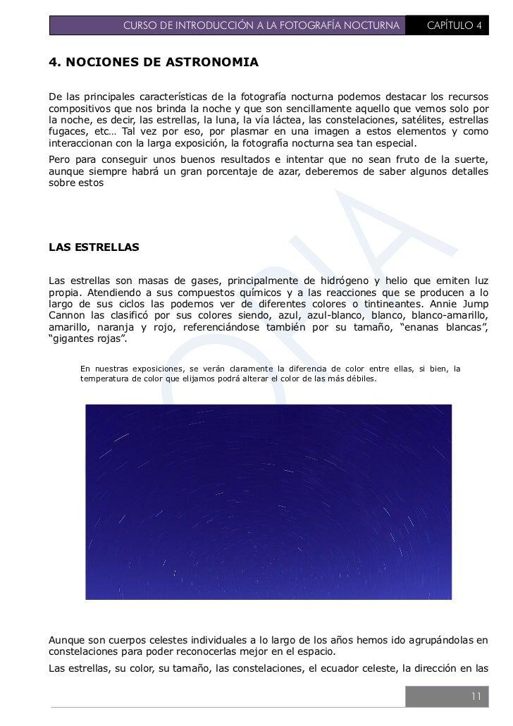 """CURSO DE INTRODUCCIÓN A LA FOTOGRAFÍA NOCTURNA                               CAPÍTULO 4que """"caen"""", todo forma parte de una..."""