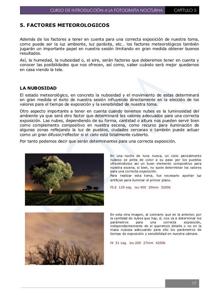 CURSO DE INTRODUCCIÓN A LA FOTOGRAFÍA NOCTURNA                               CAPÍTULO 5                                   ...