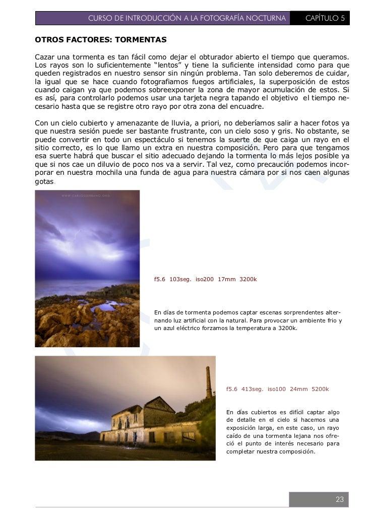 CURSO DE INTRODUCCIÓN A LA FOTOGRAFÍA NOCTURNA                  CAPÍTULO 66. TÉCNICA BÁSICA – COMPOSICIONA parte de estos ...