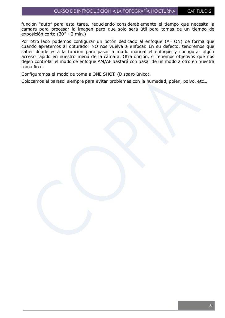 CURSO DE INTRODUCCIÓN A LA FOTOGRAFÍA NOCTURNA                   CAPÍTULO 33. CONOCIMIENTOS PREVIOSLEY DE RECIPROCIDADEnte...