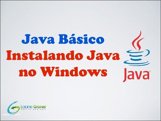 Java Básico Instalando Java no Windows