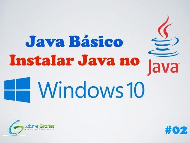 Java Básico Instalar Java no #02