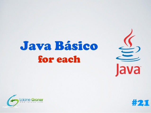 Java Básico for each #21