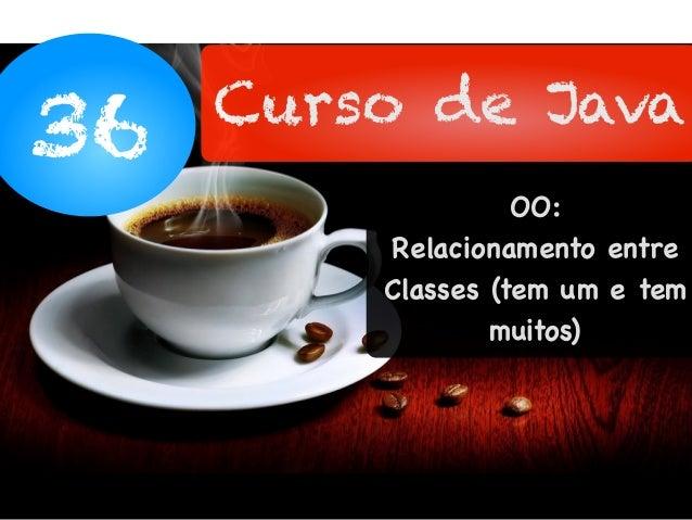 36 Curso de Java OO: Relacionamento entre Classes (tem um e tem muitos)