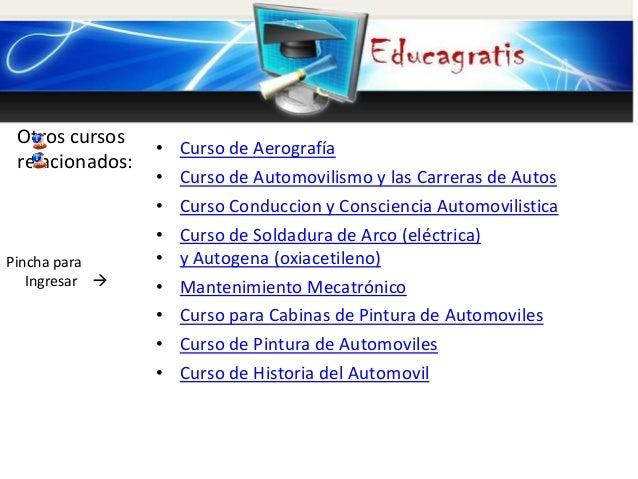 Curso gratis de Mecanica Automotriz