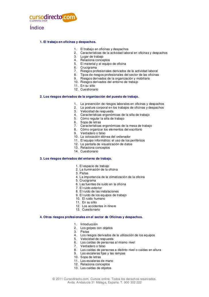 Curso online prl prevencion riesgos laborales oficinas lw for Prevencion riesgos laborales oficina