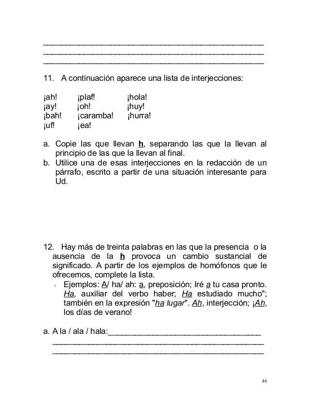 Curso ortografia