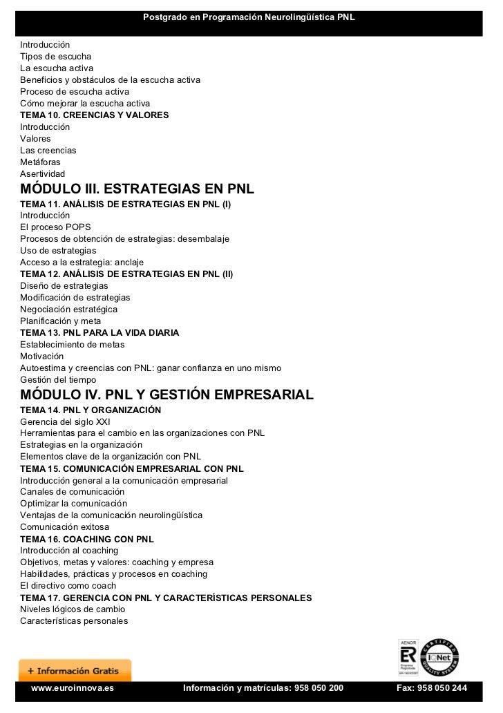 Metaprogramas pnl