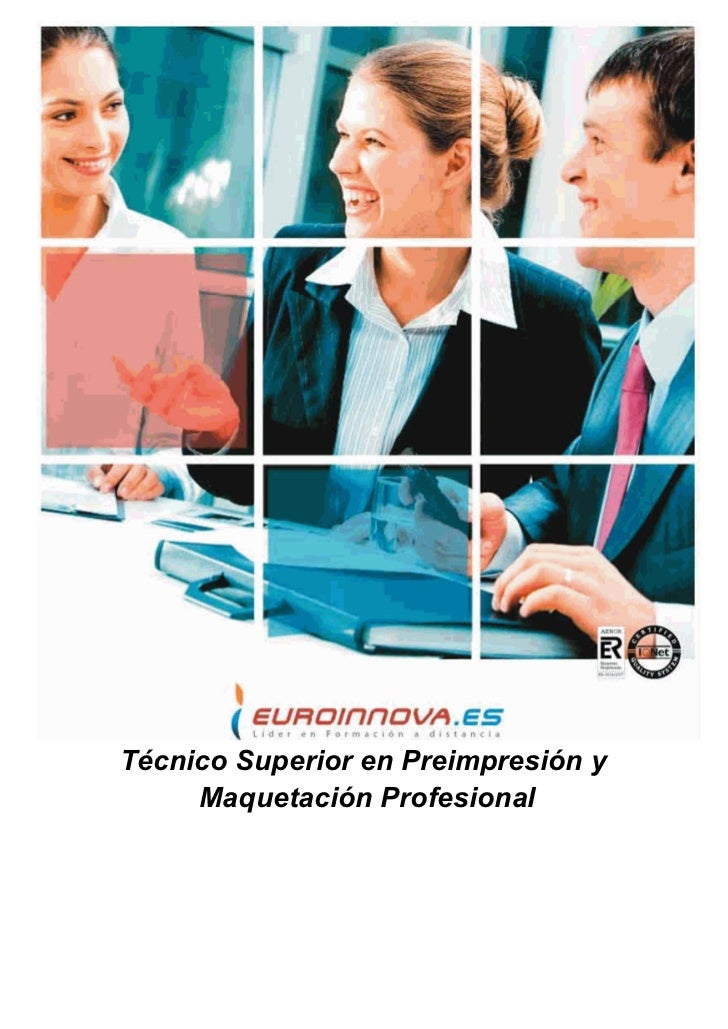 Técnico Superior en Preimpresión y     Maquetación Profesional