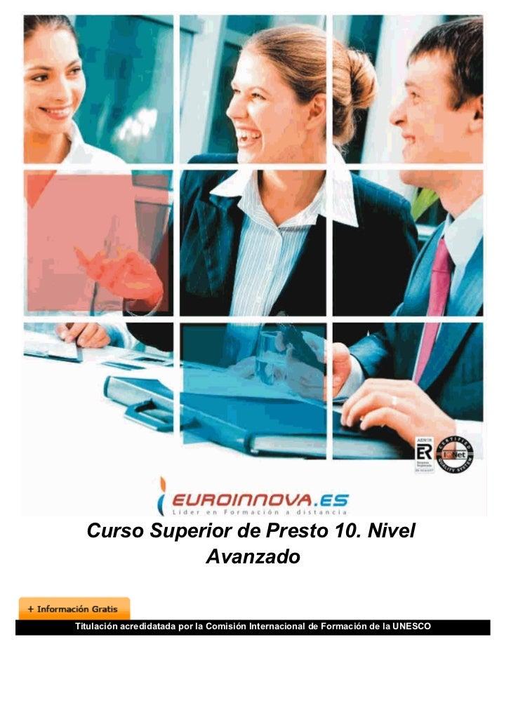manual avanzado presto 8.8 pdf