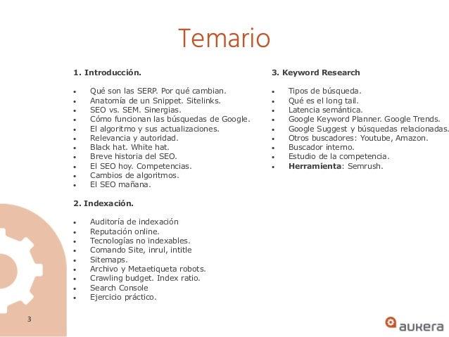 Curso de SEO presencial en Bilbao Slide 3