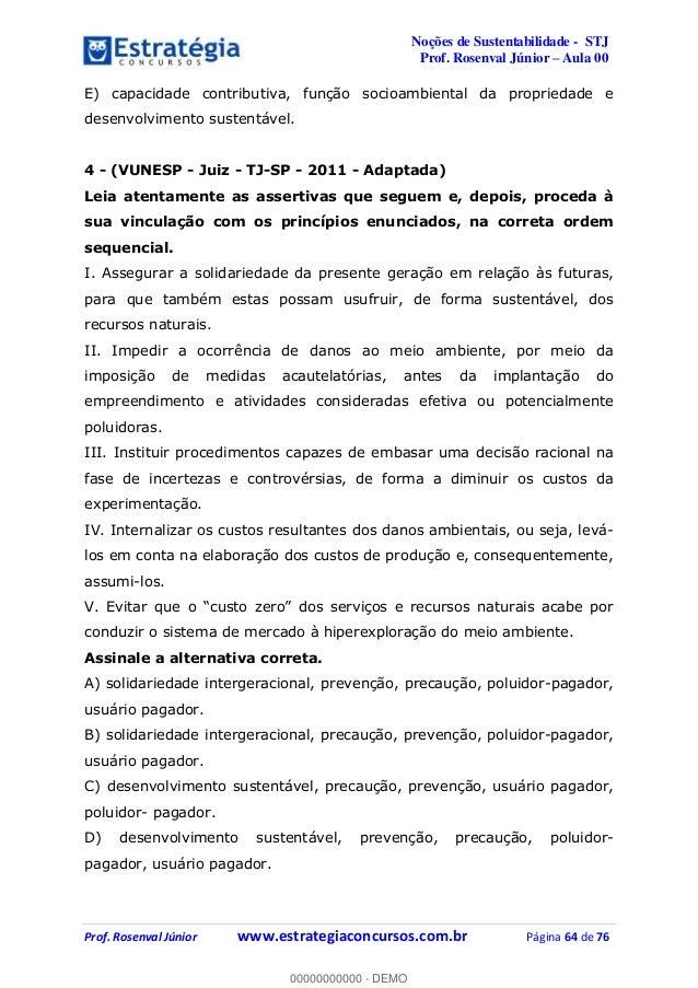 Noções de Sustentabilidade p/ Concurso STJ