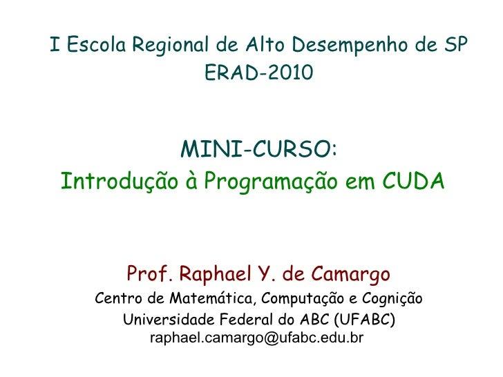 Mini-curso CUDA