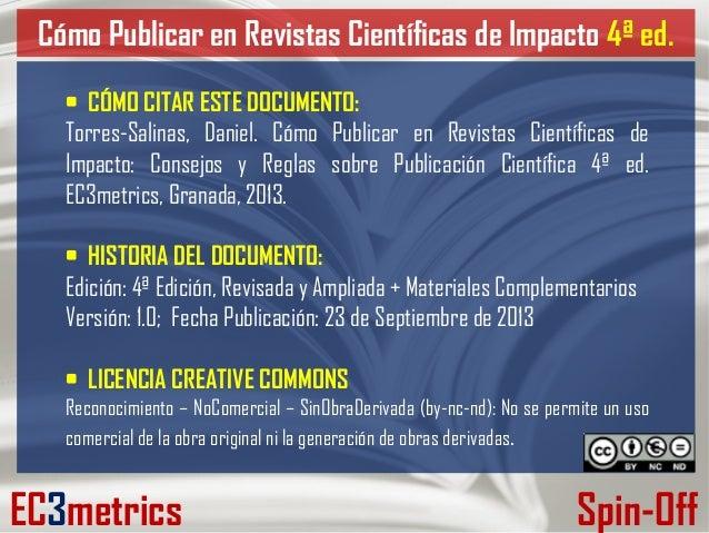 Curso 4º ed, cómo publicar en revistas científicas de impacto  consejos y reglas sobre publicación científica. Slide 2