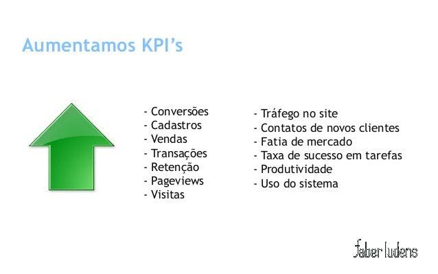Aumentamos KPI's            - Conversões   - Tráfego no site            - Cadastros    - Contatos de novos clientes       ...