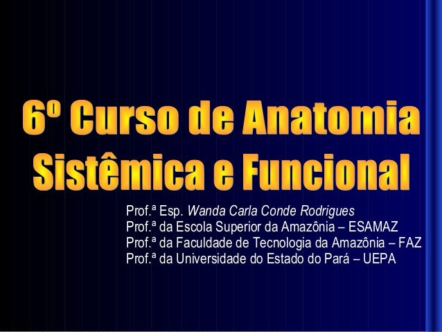 Prof.ª Esp. Wanda Carla Conde RodriguesProf.ª da Escola Superior da Amazônia – ESAMAZProf.ª da Faculdade de Tecnologia da ...