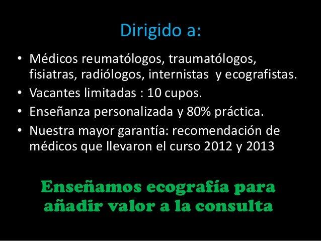 Curso anual de ecografia musculoesqueletica y articular 2014 Slide 3