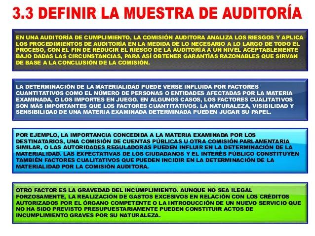 MATERIALIDAD FACTORES CUANTITATIVOS 1. NÚMERO DE PERSONAS. 2. ENTIDADES AFECTADAS POR LA MATERIA EXAMINADA. 3. IMPORTES EN...
