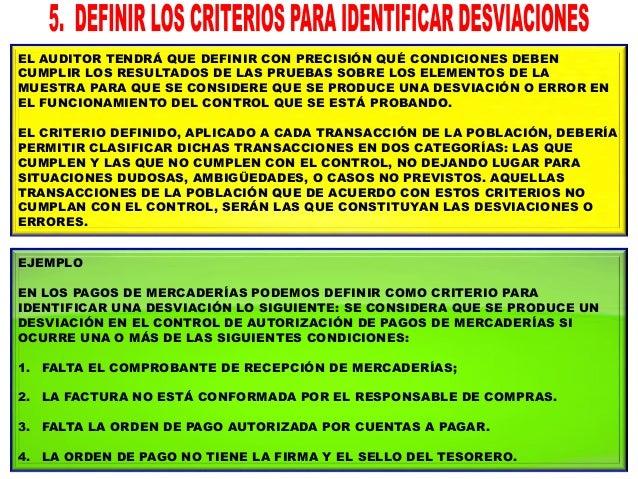 EL AUDITOR DEBERÁ HACER UNA ESTIMACIÓN PRELIMINAR DEL PORCENTAJE DE DESVIACIONES EXISTENTES EN LA POBLACIÓN. ESTA ESTIMACI...