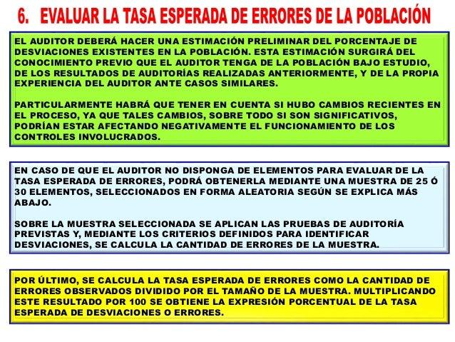UN PORCENTAJE ESPERADO DE ERRORES MÁS ALTO –MANTENIENDO LAS DEMÁS CONDICIONES CONSTANTES– REQUERIRÁ UN TAMAÑO DE MUESTRA M...