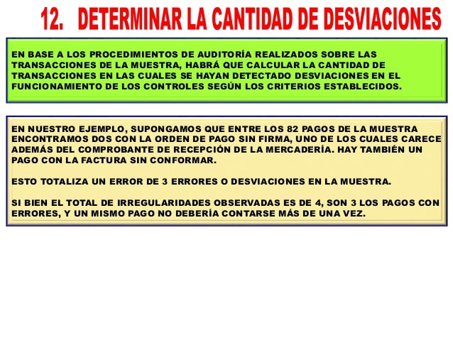 A FIN DE EVALUAR LA SUFICIENCIA DE LA MUESTRA, HABRÁ QUE APLICAR LA TASA ESPERADA DE DESVIACIONES DE LA POBLACIÓN AL TAMAÑ...