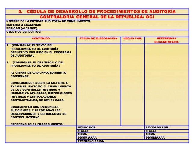 CRITERIO DE AUDITORÍA SITUACIÓN REAL COMPARACIÓN RESULTADOS EVIDENCIA DE AUDITORÍA