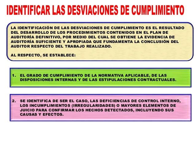6 - MATRIZ DE DESVIACIONES DE CUMPLIMIENTO ENTIDAD AUDITADA: ALCANCE: SISTEMA ADMINISTRATIVO: ORDEN DE SERVICIO: MATERIA A...