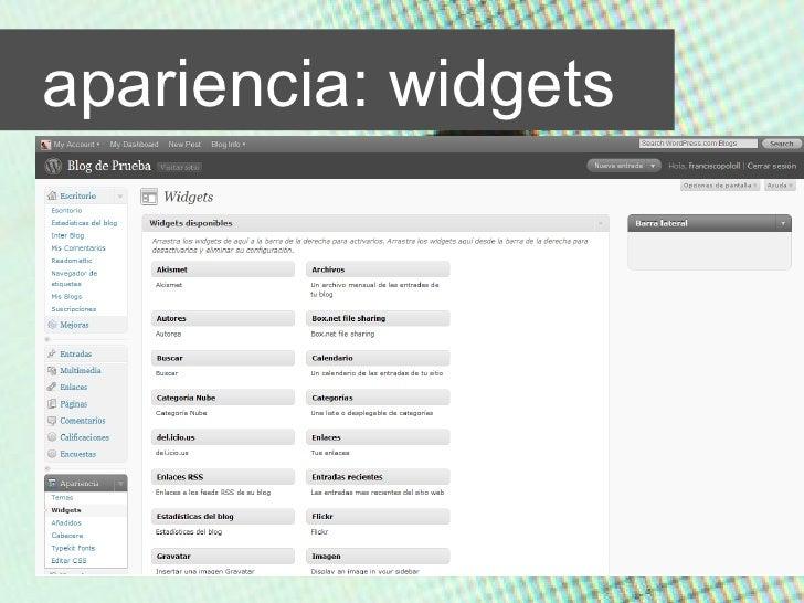apariencia: widgets