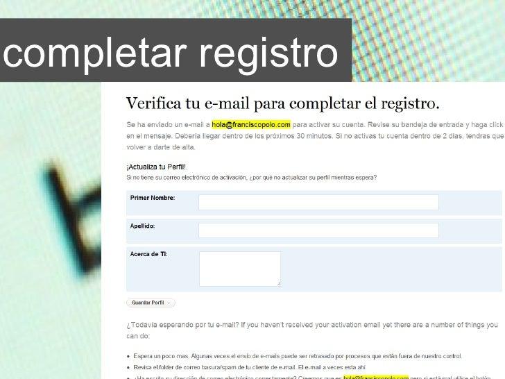completar registro