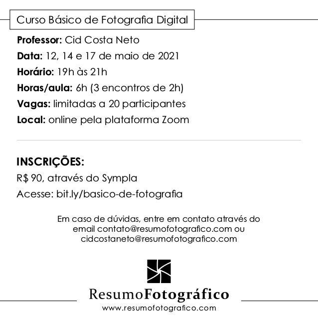 Curso Básico de Fotografia Digital Slide 3
