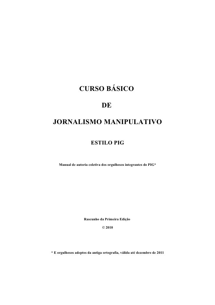 Curso Basicode Jornalismo Manipulativo