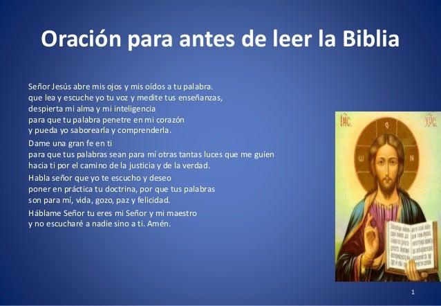 Curso bblico 1 oracin para antes de leer la biblia seor jess abre mis ojos y mis odos a urtaz Images