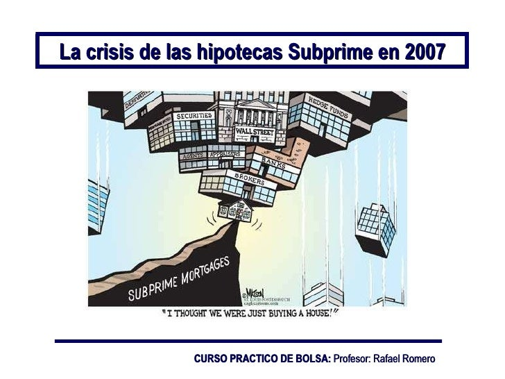 lehman brothers subprime crisis The subprime lending crisis: causes and effects predicted that the subprime fallout would be in answer to a question about the causes of the subprime crisis.