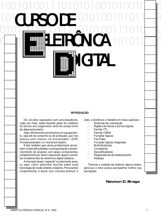 CURSO DE ELETRÔNICA DIGITAL 1SABER ELETRÔNICA ESPECIAL Nº 8 - 2002 10010100111010101001010010101 1010101010011101010010101...