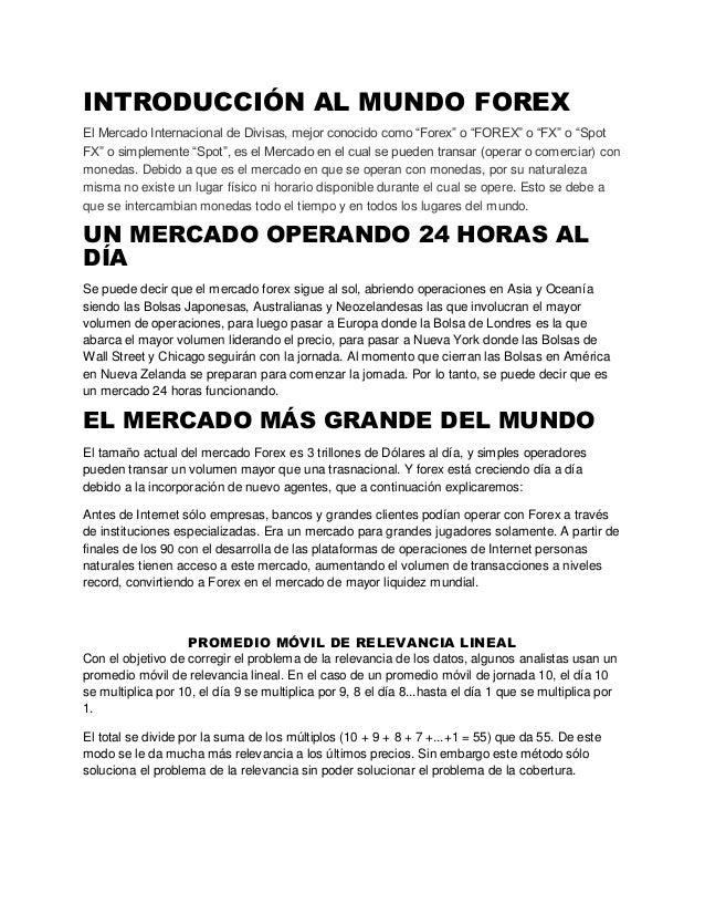 Curso forex espanol