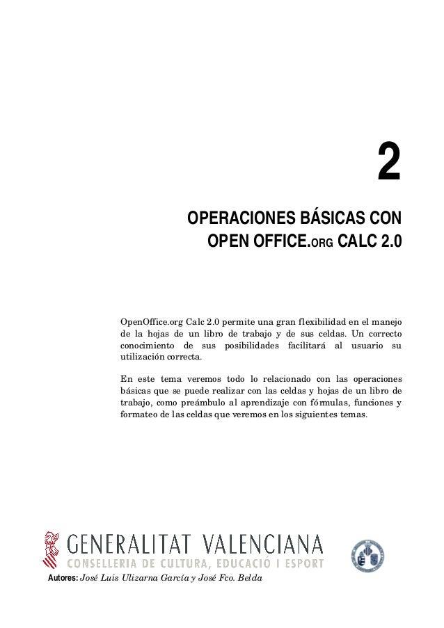 2                                      OPERACIONESBÁSICASCON                                        OPENOFFICE.ORGCAL...