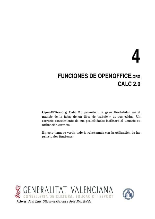 4                              FUNCIONESDEOPENOFFICE.ORG                                                CALC2.0       ...