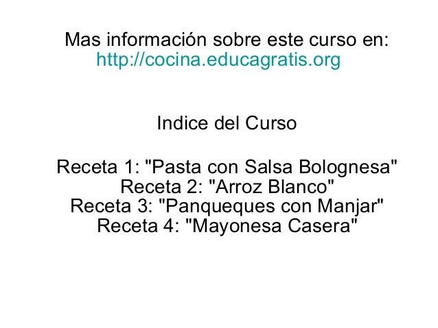 Curso cocina f cil for Curso cocina gratis